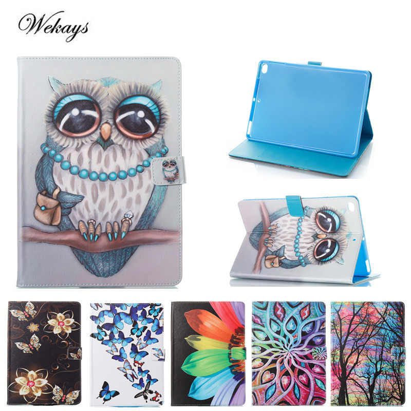 Wekays For Coque Apple IPad Air 2 Cute Cartoon Owl Leather Flip Funda Case For IPad Air2 IPad 6 Tablet Cover For IPad Air 2 Case fashion 3d cute cartoon daisy duck soft silicone rubber cases cover for apple ipad air 2 ipad6 air2 case for ipad 6 coque fundas