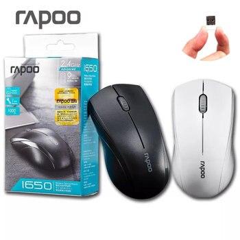 Rapoo 1650 Wieless 2,4 ГГц Тихая Нажмите Mute Эргономичный USB Оптический Беспроводной Мышь игровых мышей
