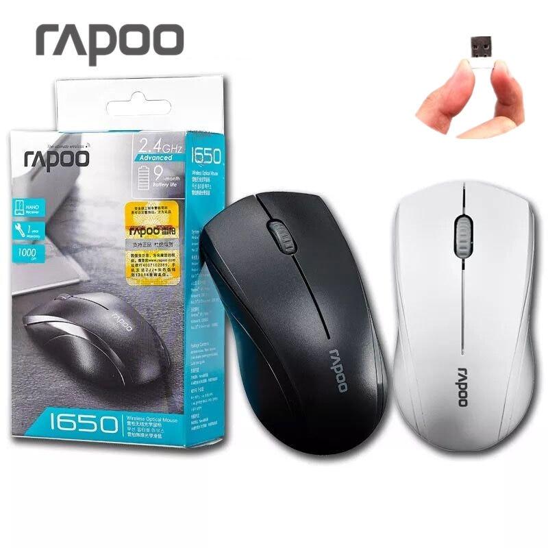 Rapoo 1650 Wieless 2.4 ghz Silencieux Cliquez Muet Ergonomique USB Optique Sans Fil Souris Gaming Souris