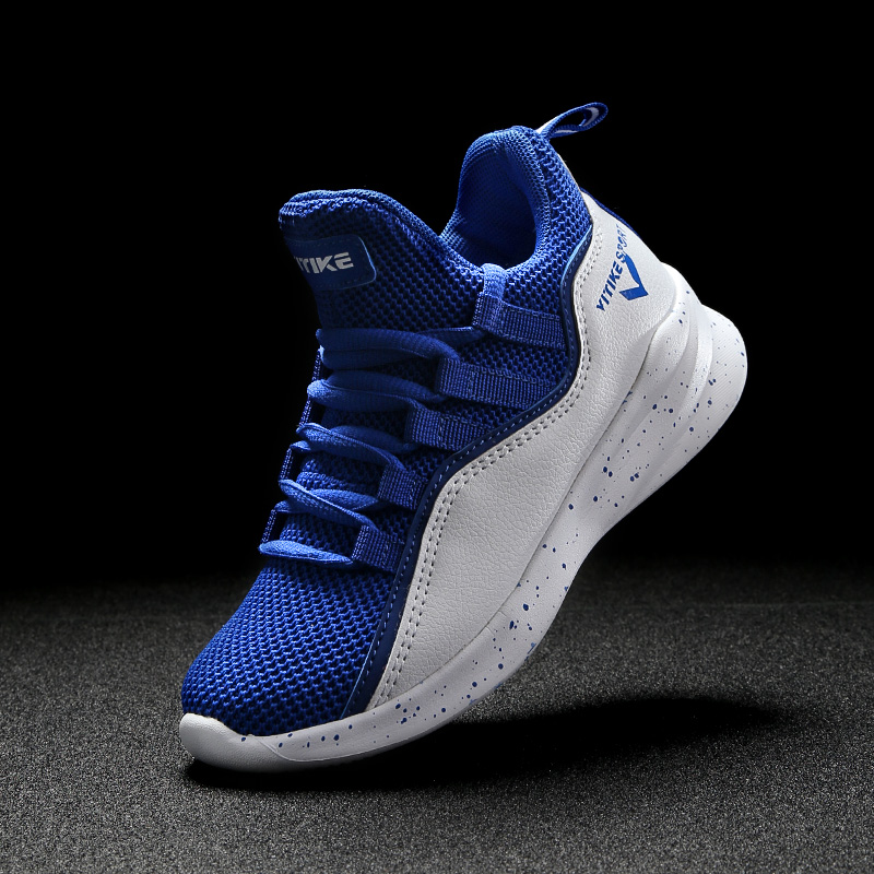 2019 New Style Children's Basketball Shoes Contrast Color Big Kids Sneakers Boys Trainers Girls Sport Shoes Breathable Footwear