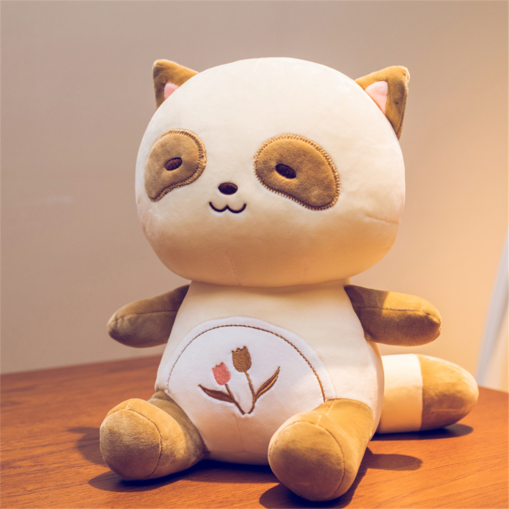 Fancytrader mignon peluche raton laveur jouets en peluche doux 50 cm belle animaux Panda poupée pour enfants cadeau 2 couleurs