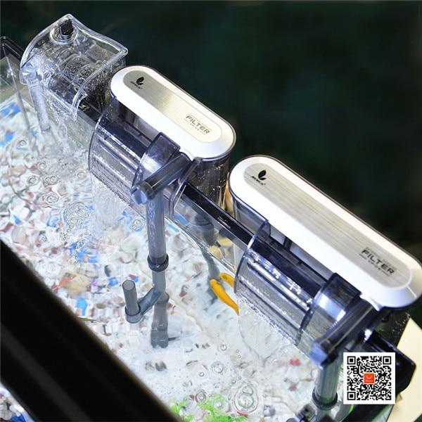 HONGYI External Hanging Filter For Aquarium XP-03/11/13 3 In 1 Submersible Pump Waterfall Filter For Fish Tank