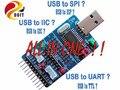 Official DOIT I2C SPI UART EPP MEM GPIO AllInOne USB Serial Convector Adapter DIY Kit RC Electronic Toy Robot Development Board