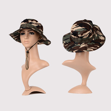 1Pcs New Military Camouflage Bucket Hats Acrylic & Cotton Jungle Camo Fisherman Hat For Outdoor Fishing, Hiking and Camping