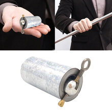 1pcs 110CM length Appearing Cane silver cudgel metal magic tricks for professional magician stage street close up illusion shaun flower table magic tricks for professiona magician stage appearing feather flower blooms table comedy illusion