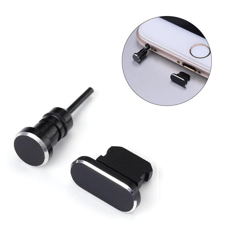 Metal Mini Dust plug 3.5 mm jack earphone Charging Port For iPhone X XR XS Max 8 7 6S 6 Plus 5 SE Dust Plug Phone Accessories