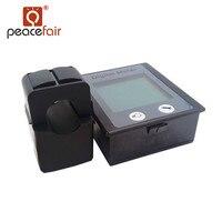 Najnowsza Wersja PEACEFAIR STN LCD Ekran Digital AC 80-260 V 100A Miernik Volt Amp Wat Energii power Panel voltameter + Podział CT