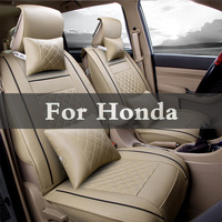 (Front + Rear)Set Luxury Leather Car Seat Cover Accessories Styling For Honda Legend Life Mdx Nsx Partner Pilot S2000 Vezel Zest
