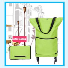 Multifunctional Waterproof Oxford Cloth Foldable Supermarker Shopping Trolley Wheel Bag Traval Cart Luggage Bag Dropshipping(China)