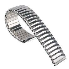 Заменить мужчин t нержавеющая сталь серебро 18 мм Мужская мода высокое качество браслет ремешок гибкий