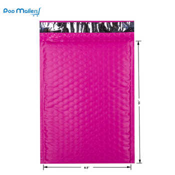 8.5x11inch 235*280mm Poly Bubble Mailer Pink Self Seal Padded Envelopes Pack of 10