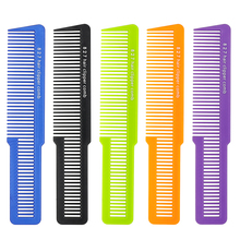 Högkvalitativ karbonplastmäns hårkramskam med ny design Durable Salon Hair Trimming Comb For Man Frisörverktyg