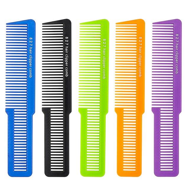 Peine cortadora de pelo de plástico de carbono de alta calidad para hombre con nuevo diseño duradero peine de peluquería para hombre
