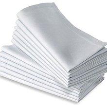 12 шт. хлопок ужин в ресторане ткань льняная белая 50x50 см отель премиум-класса салфетки