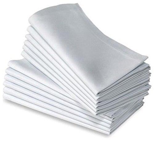 12pcs  100% COTTON RESTAURANT DINNER CLOTH LINEN WHITE 50x50cm PREMIUM HOTEL NAPKINS