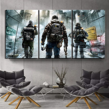 3 Piece Tom Clancys The Division Video Game Poster HD Wall Pictures Canvas Art for Home Decor