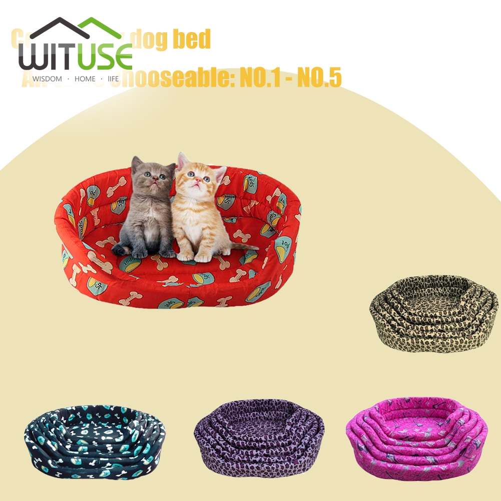 Wituse Portable Comfortable 5 Sizes Warm Cozy Puppy Dog Cat Kitten Pet Bed Soft Cushion Basket Sofa Couch