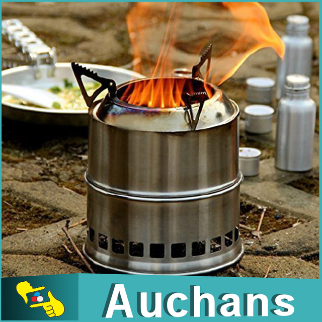 Outdoor Wood Stove Camping Stove twigs Solidified alcohol stove Portable stainless steel For Outdoor Cooking Picnic
