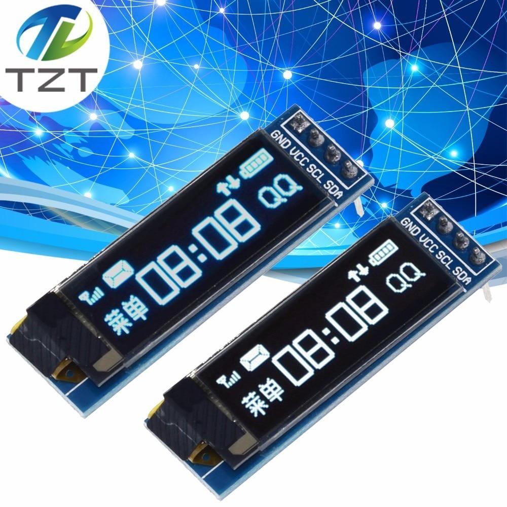 """0.91 polegadas oled módulo 0.91 """"branco oled 128x32 oled lcd display led módulo 0.91"""" iic comunicar 4pin"""