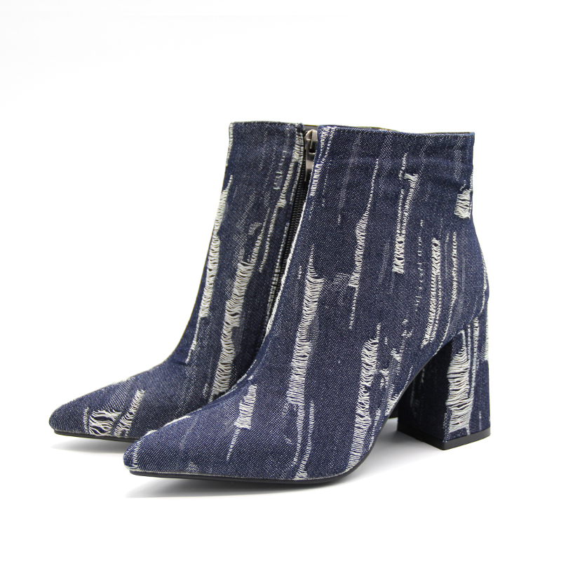 Tacón Springautumu Tamaño Cm Impresión Zapatos Punta Denim Roto Moda Mujer De Martin 9 2019 Nuevo Botas Mujeres 43 Arranque Alto fqFwPRPd