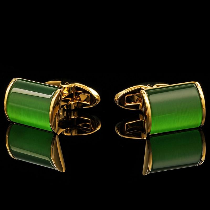 KFLK Schmuck Shirt Manschettenknopf für Herren Brand Green Cuff Link - Modeschmuck - Foto 2