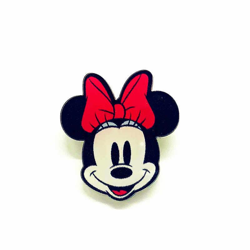1Pcs Del Fumetto Bello di Mickey Minnie Anatra Acrilico Spilla Kawaii Distintivi e Simboli Vestiti Zaino Decorazione Icona Spille Spille Per Il Regalo Dei Capretti