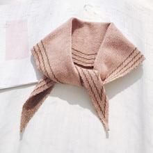 купить Fashion Rhombus Woollen Yarn Knitted Triangle Kerchief Women Girls Chic Scarf For Winter Shawls Neckerchief дешево