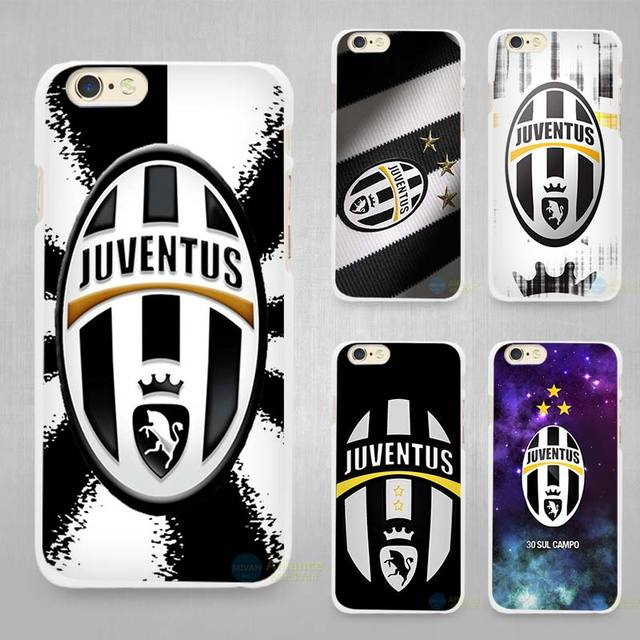Juventus Hard White Cell Phone Case Cover for Apple iPhone 4 4s 5 5C SE 5s 6 6s 7 Plus