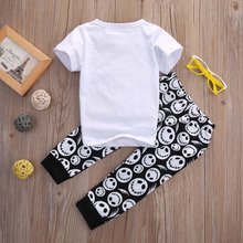 New Cotton Casual T-shirt+Cross Pants PCs Baby Clothing Sets