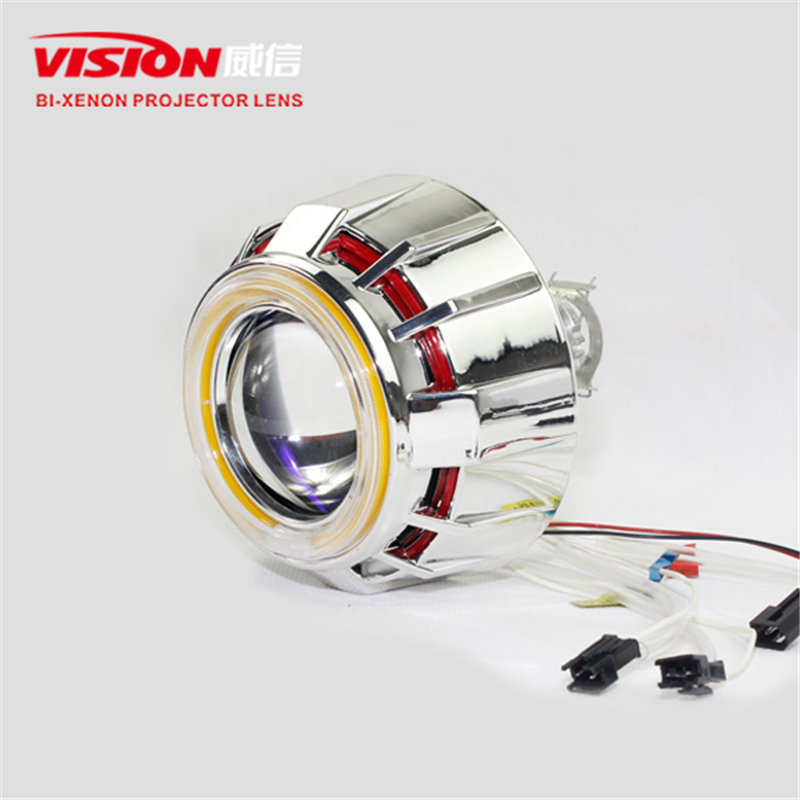 Free Shipping IPHCAR RGB Universal CCFL Angel Eyes Car Light Source Daytime Running Light Hid Projector Lens Car Styling free shipping ccfl angel eyes for bmw e90 e90 non projector halo ring e90 ccfl angeleyes lights