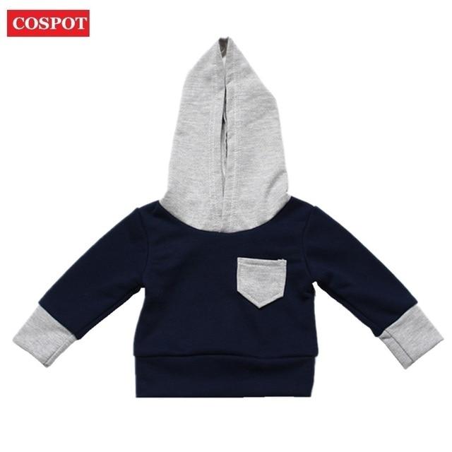cospot baby boys hoodies boy hooded coat for autumn spring boyu0027s cotton sweatshirt kids cute plain