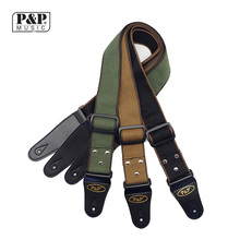 P&P Adjustable Pure Cotton Electric Guitar Strap Belt for Acoustic Bass Musical Instrument Accessories width 5cm