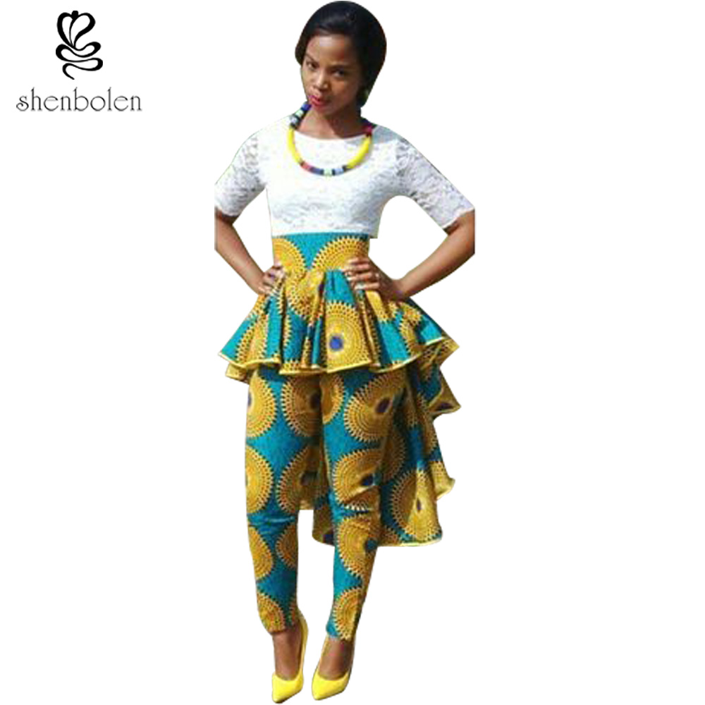 African Print Fashion: Africa Clothing For Women Cotton Batik Print Pants New
