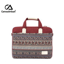 Brand new 15.6 inch mac apple cotton canvas laotop bag and case retro style briefcases notebook top quality unisex business bags