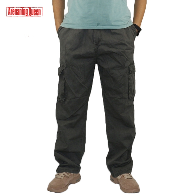 d583e2152bd Men s Tactical Cargo Pants Multi Pocket Work Harem Men Military Army Baggy  Overalls Cotton Casual Pants Camo Joggers Trousers