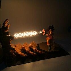 Figuras de acción de Dragon Ball Z, Son Goku, EU US, lámpara Led de mesa, Kamehameha Attack, Super Saiyan DBZ, luces Led de noche, regalo