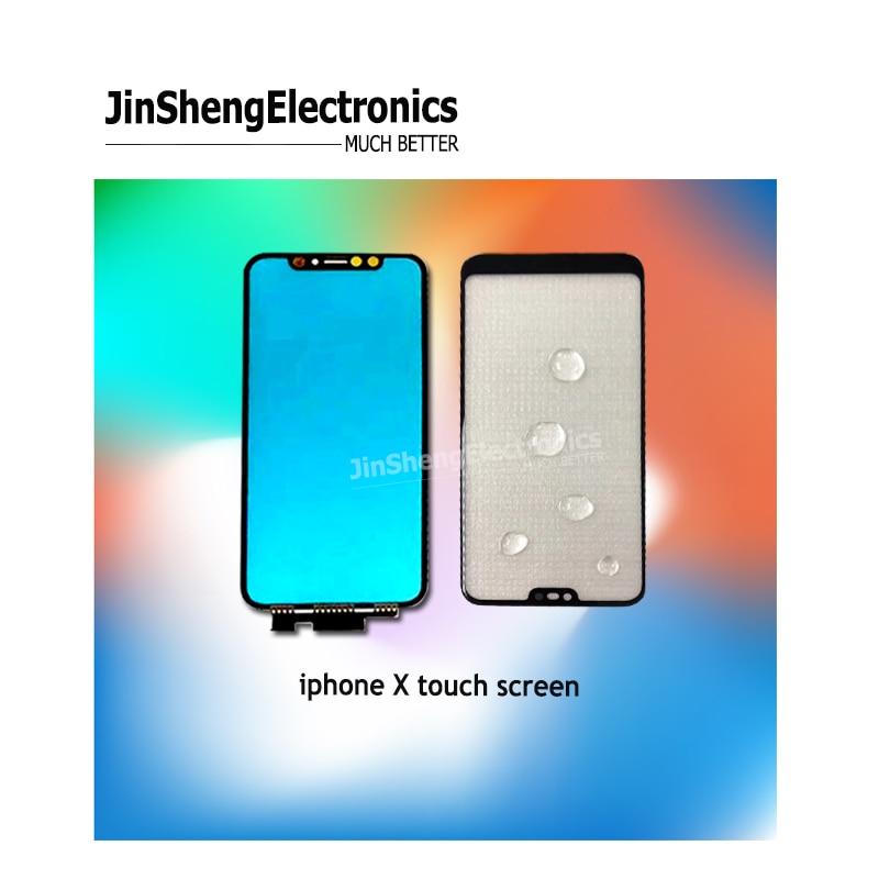 Qualité pouces 5.8 pour Apple pour iPhone X XS écran tactile numériseur avant lentille en verre externe avec câble flexible seul panneau TP 5 pièces