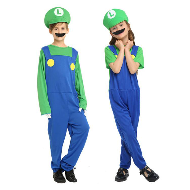 Children's Day Performance Costume Cosplay Costume Super Mario Dress Cartoon Anime Mario Costume