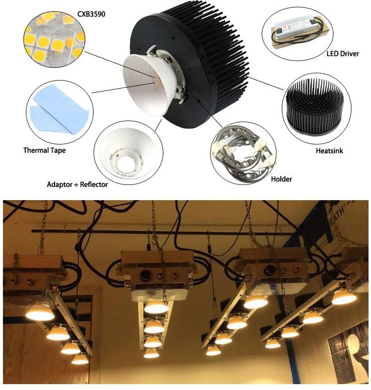 Us 457 6 12 Off Cree Cob Cxb3590 Diy Led Grow Lights Kit 320w Warm White 3000k 3500k With Meanwell Dimmable Led Driver Hlg 320h C1400b In Led Grow