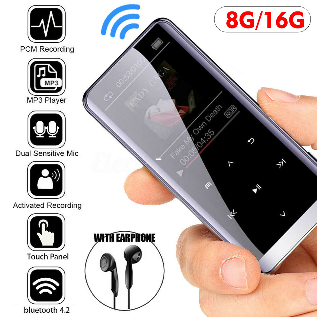 Portable MP3//MP4 Player 8GB HiFi Stereo Sound Music Media 70H Playback Thin Body