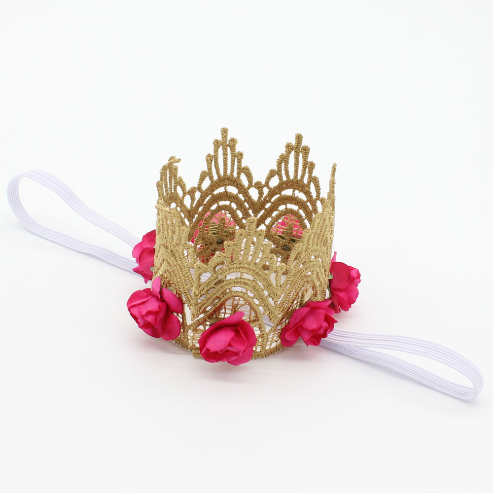 Hot Sale Multicolor Lace Flower Crown For Baby Hair Accessories Cute