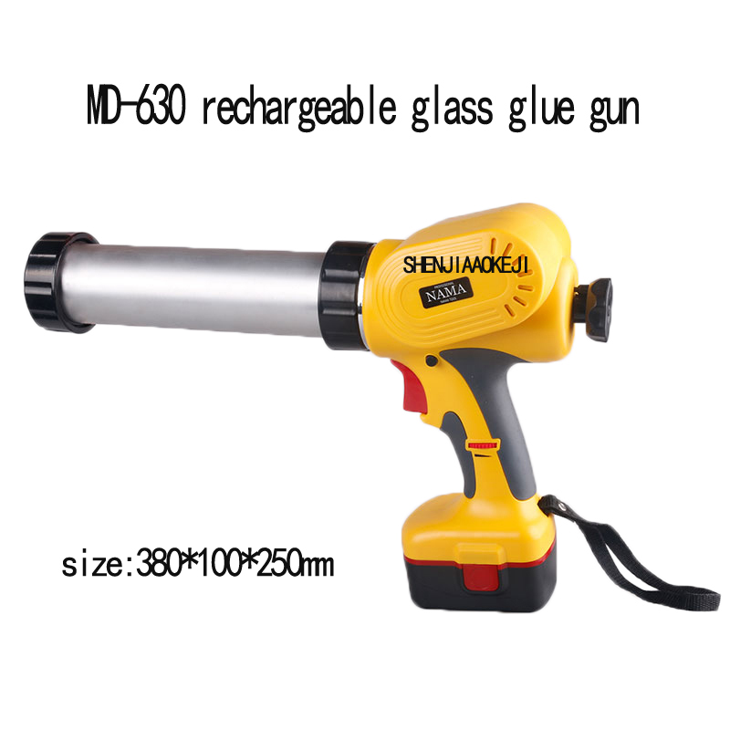 MD-630 Portable MD-630 Electric Glass Glue Gun Handheld Rechargeable Glue Gun Caulking Gun Tools 220V 1PC