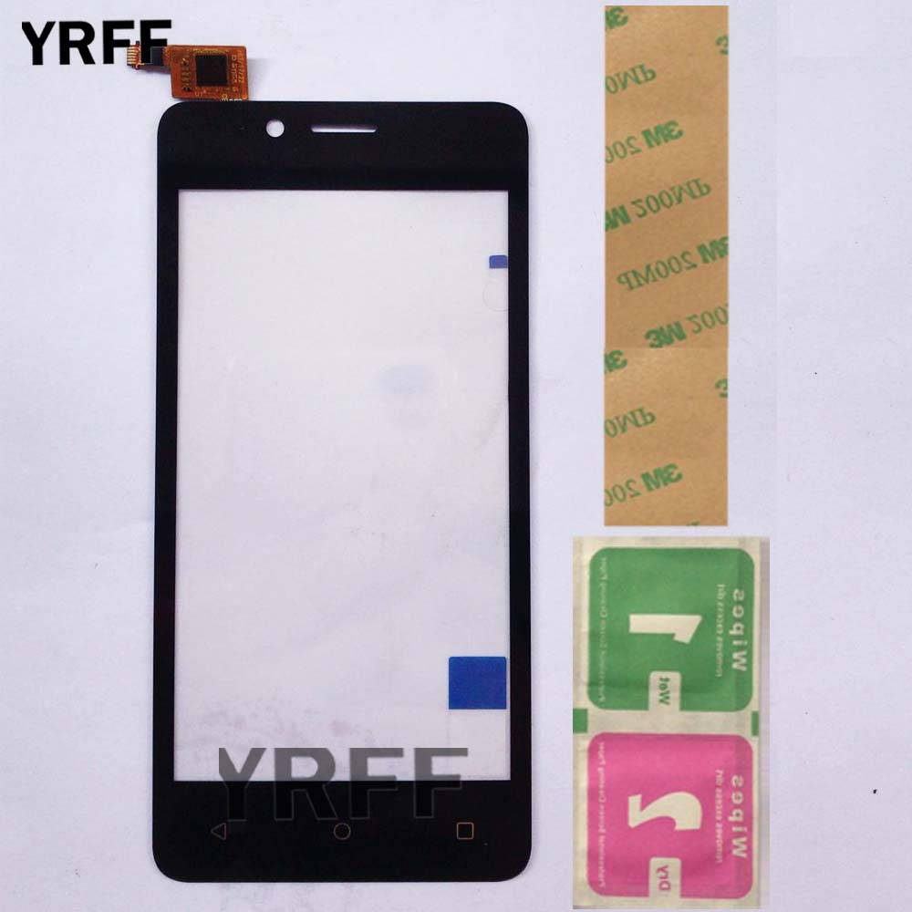 Touch Screen Panel For Fly FS458 Stratus 7 FS 458 Touch Screen Glass Digitizer Panel Lens Sensor 5.0'' Phone Adhesive Wipes