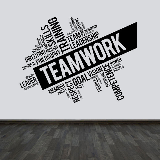 Large Size Teamwork Quotes Vinyl Wall Sticker 160x118cm-in ...