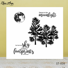 ZhuoAng Pine trees in the moonlight Clear Stamps/seals For DIY Scrapbooking/Card Making/Album Decorative Silicon Stamp Crafts