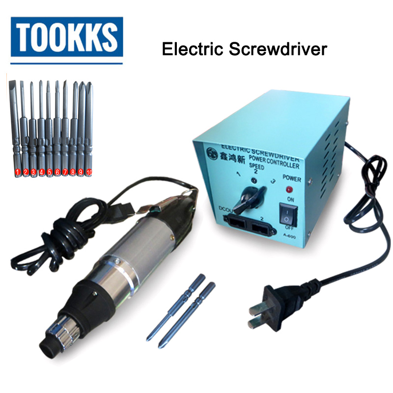 цена на 801 DC Powered Electric Screwdriver Small Power Supply 220V For Laptop disassemble Repair Screwdriver Set