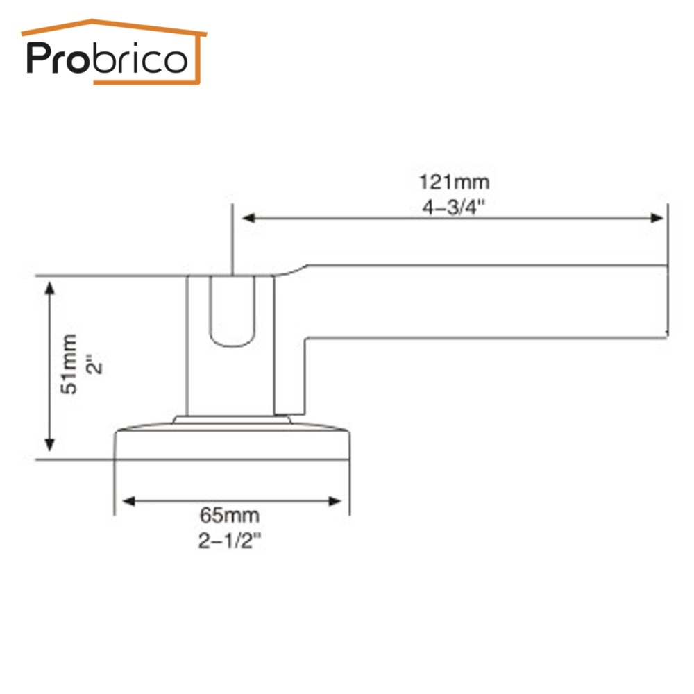 probrico stainless steel halfdummy door knob for interior door lever brushed nickel door handle