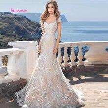 LEIYINXIANG Popular Elegant New Arrival Wedding Dress Vestidos De Noiva Sexy Mermaid Sleeveless Backless Appliques Sweetheart
