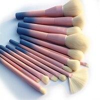 2017 Gradient Color Pro 14pcs Makeup Brushes Set Cosmetic Powder Foundation Eyeshadow Eyeliner Brush Kits Make