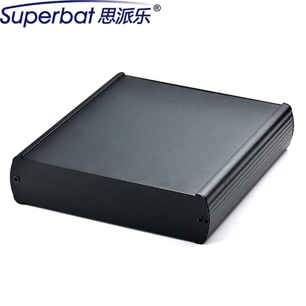 Heavy Gauge Extruded Black 5.43″*1.50″*5.91″ Aluminum Box Electronic Instrument Enclosure Amplifier HIFI Tube Shell 138X38X150mm